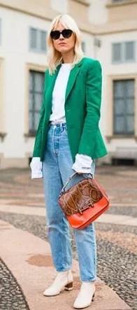 Klasik ceketli kış kombini