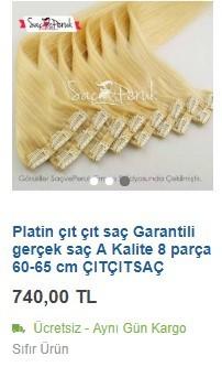 Platin sarısı çıt çıt saç