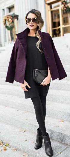 Siyap çorap elbise kombini