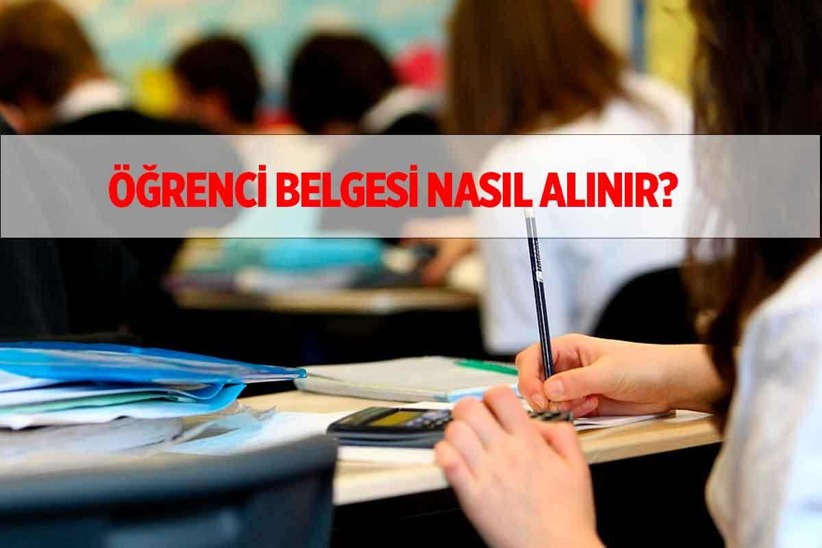 E-Devlet Öğrenci Belgesi Alma (Lise, Ortaokul)