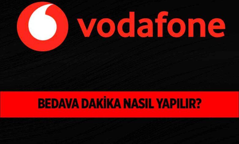 Vodafone Faturasız Müşterilere Bedava Dakika